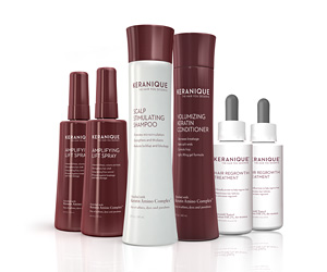 System features a product with an ingredient that is the only FDA approved non prescription treatment for women's hair loss. The system improves hair volume, texture and shine.  Kit Includes: Revitalizing Shampoo, Volumizing Conditioner, 2 Hair regrowth treatments, 2 Volumizing lifting sprays.